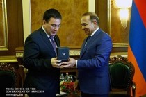 Hovik Abrahamyan holds farewell meeting with Head of EU Delegation to Armenia