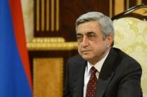 Սերժ Սարգսյանը շնորհավորել է Վրաստանի նախագահին Պետական անկախության վերականգնման օրվա կապակցությամբ
