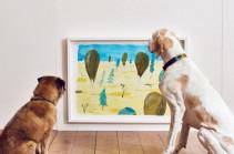 В Лондоне открылась выставка искусства для собак (Видео)