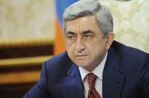 Նախագահ Սերժ Սարգսյանը ցավակցական հեռագիր է հղել Իտալիայի նախագահ Սերջիո Մատարելլային
