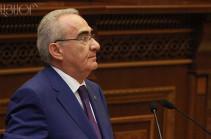 ԱԺ նախագահ Գալուստ Սահակյանը ցավակցական ուղերձ է հղել Իտալիայի Սենատի նախագահին