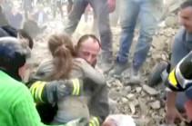 В Италии спасли девочку, которая 17 часов находилась под завалами