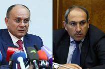 Никол Пашинян и Сейран Оганян обсудили ситуацию на передовой