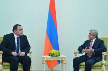 Նախագահին հավատարմագրերն է հանձնել Հայաստանում Վրաստանի նորանշանակ դեսպանը