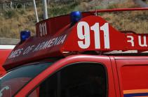В Хосровском заповеднике в Армении произошел крупный пожар