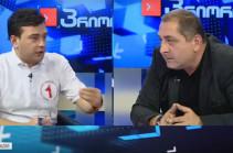 Վրացի քաղաքական գործիչներն ուղիղ եթերում միմյանց վրա բաժակներ են նետել (Տեսանյութ)