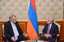 Саргсян: Армянская сторона готова продолжить конструктивные шаги в интересах утверждения мира и безопасности