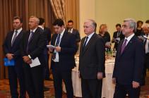 Состоялся прием в честь участников Ереванского международного форума