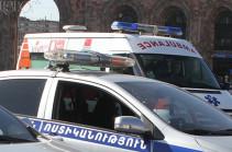 Աշտարակ-Ապարան ավտոճանապարհին մեքենան երթևեկելի հատվածից դուրս է եկել և կողաշրջվել