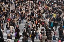 1990 թվականից ի վեր առաջին անգամ Ճապոնիայի բնակչության թիվը նվազում է