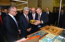 Նախագահը ներկա է գտնվել «Երևան շոու-2016» ոսկերչական ցուցահանդեսի և «Երևան տոնավաճառ» առևտրի կենտրոնի բացման արարողություններին