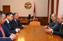 Բակո Սահակյանն ընդունել է ՀՀ ԱԺ պատգամավորներին