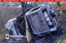 Լոռու մարզում մեքենան գլորվել է ձորը. 26-ամյա կինը այրվել է մեքենայում