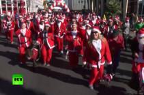 10 тыс. Санта-Клаусов приняли участие в забеге в Лас-Вегасе (Видео)