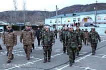 Հայաստանի և Արցախի նախագահներն այցելել են ԼՂՀ հարավային և հարավարևելյան շրջաններում տեղակայված մի շարք զորամասեր