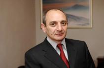 Бако Саакян направил поздравительное послание в связи с Днем референдума о государственной независимости и Конституции НКР