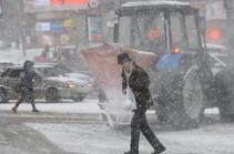 В Москве в ближайшие часы ожидаются резкое похолодание и сильный ветер