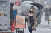 После сильных снегопадов в Японии погибли 7 человек