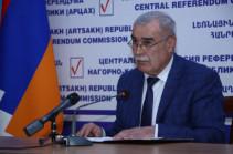 В конституционном референдуме в Карабахе приняли участие 76,44% избирателей