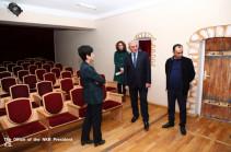 Бако Саакян ознакомился с работами по реконструкции Центра культуры города Шуши