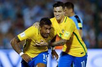 Хет-трик Паулиньо принёс Бразилии волевую победу над Уругваем в отборе ЧМ-2018