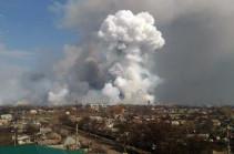 Взрывы на складах в Балаклее еще продолжаются