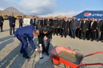 Սերժ Սարգսյանը մասնակցել է Վեդու ջրամբարի հիմնարկեքի արարողությանը