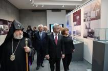 Президент Армении в Музее-институте Геноцида армян осмотрел уникальные экспонаты