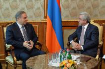 Президент Армении принял государственного министра Ливана по вопросам планирования