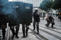 Ռիո դե Ժանեյրոյում ոստիկանությունը ցուցարարների դեմ արցունքաբեր գազ և ռետինե փամփուշտներ է կիրառել