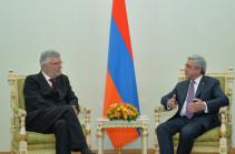 Президент Армении и новоназначенный посол Бельгии обсудили возможности расширения армяно-бельгийского взаимодействия