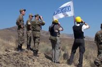 Миссия ОБСЕ проведет плановый мониторинг в зоне карабахского конфликта