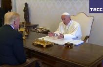 Папа Франциск и Трамп обсудили пути мирного урегулирования конфликтана Ближнем Востоке