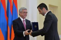 Президент Армении наградил Генриха Мхитаряна медалью «За заслуги перед Отечеством» I степени