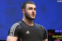 Սամվել Գասպարյանը` ծանրամարտի աշխարհի երիտասարդական առաջնության բրոնզե մեդալակիր