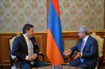 Президент Армении: Максим Венгеров подтвердил приверженность общечеловеческим ценностям