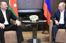 Алиев и Путин обсудили в Сочи проблему Карабаха