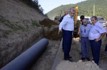 Продолжается широкомасштабный капитальный ремонт дороги Ванадзор-Алаверди