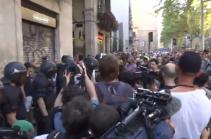 В Барселоне разогнали митинг противников исламизации Европы