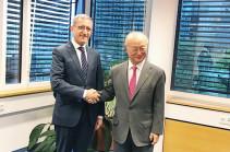 Աշոտ Մանուկյանը Յուակի Ամանոյանին ներկայացրել է Հայկական ԱԷԿ-ի շահագործման ժամկետի երկարաձգման և արդիականացման ծրագրի ընթացքը
