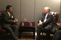 Հայաստանի արտգործնախարարը հանդիպել է Մադագասկարի արտաքին գործերի նախարարի հետ
