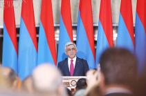 Սերժ Սարգսյան. Մեր ընթացքը եղել է ճիշտ ուղղությամբ, սակայն պետք է փորձենք hետ բերել բաց թողածը
