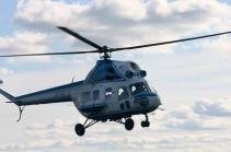 В Казахстане вертолет совершил жесткую посадку и сгорел