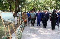 Президент Республики Арцах принял участие в торжественном мероприятии, посвященном Дню Степанакерта