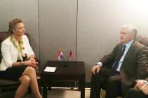 Эдвард Налбандян обсудил с вице-премьером Хорватии отношения Армения – Евросоюз