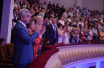 Նախագահ Սերժ Սարգսյանը ներկա է եղել Իոսիֆ Կոբզոնի համերգին