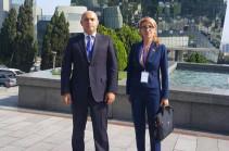 Արմեն Աշոտյանն ու Մանե Թանդիլյանը Բաքվից վերադարձել են Թբիլիսի (Տեսանյութ)