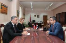 Սիրիայի դեսպանն առաջարկել է առաջիկայում Դամասկոսում կազմակերպել հայ-սիրիական միջկառավարական համատեղ հանձնաժողովի հերթական նիստը