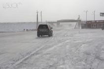 Վայքի, Գորիսի և Մեղրու ավտոճանապարհներին ձյուն է տեղում