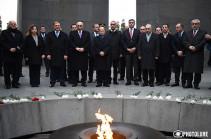 Президент Ливана в Ереване почтил память жертв Геноцида армян